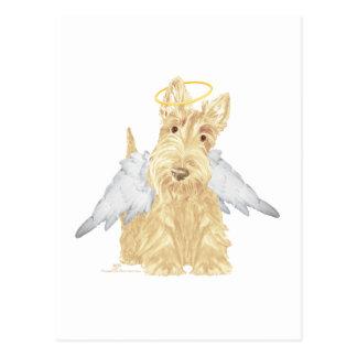 Pequeño ángel del escocés tarjeta postal