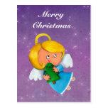 Pequeño ángel lindo postales
