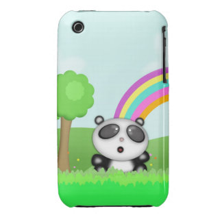 Pequeño animal lindo del dibujo animado del oso de iPhone 3 Case-Mate funda