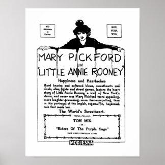 Pequeño Annie Rooney anuncio de la película muda d Póster