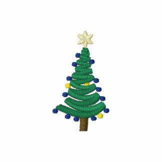 Pequeño árbol de navidad lindo sudadera bordada con capucha