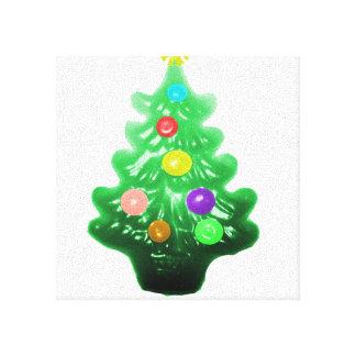 Pequeño árbol de navidad lindo lienzo envuelto para galerías