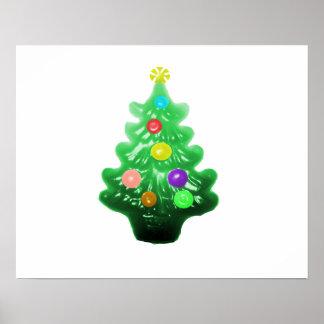 Pequeño árbol de navidad lindo posters