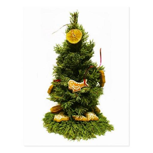 Pequeño árbol de navidad tarjetas postales