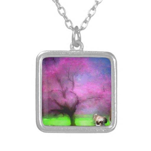 pequeño árbol y maya.jpg del rosa del chica joyería