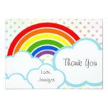 Pequeño arco iris feliz invitación 12,7 x 17,8 cm