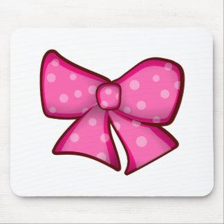 Pequeño arco rosado lindo mouse pads