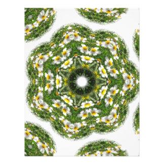 """Pequeño arte blanco 2 del caleidoscopio del Wildfl Folleto 8.5"""" X 11"""""""