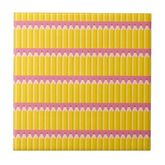 Pequeño arte del modelo de los lápices (exclusivo) azulejo cuadrado pequeño