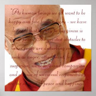 Pequeño arte HH Dalai Lama Quote2 de las semillas Posters