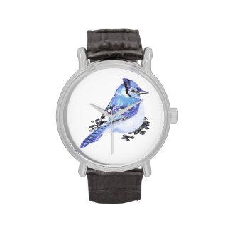 Pequeño arte lindo de la naturaleza del pájaro del reloj de mano