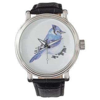 Pequeño arte lindo de la naturaleza del pájaro del relojes de pulsera