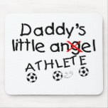 Pequeño atleta de Daddys (fútbol) Tapete De Ratones