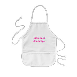 Pequeño ayudante de las mamás delantal infantil