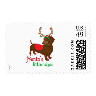 pequeño ayudante de santas sellos postales