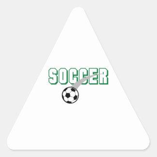 Pequeño balón de fútbol pegatina triangular