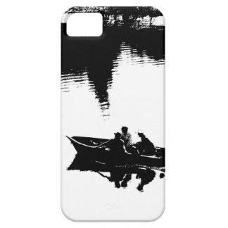 Pequeño barco de pesca en pluma y tinta iPhone 5 carcasa