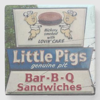 Pequeño Bbq de los cerdos, Asheville Carolina del Posavasos De Piedra
