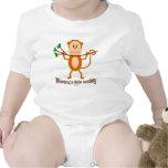Pequeño bebé s del mono de la mamá y camisetas