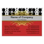Pequeño blanco y negro de las ondulaciones inverti plantilla de tarjeta personal