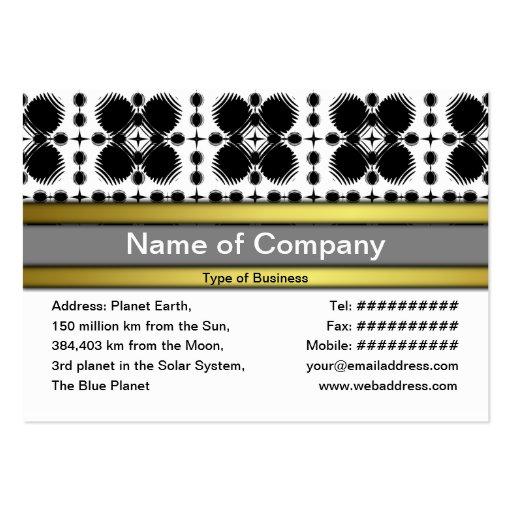 Pequeño blanco y negro de las ondulaciones inverti plantillas de tarjeta de negocio