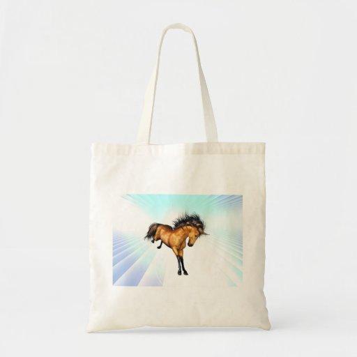 Pequeño bolso Bucking del unicornio Bolsa Tela Barata