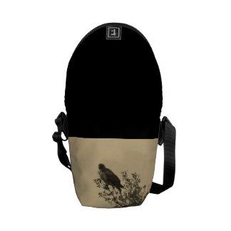 Pequeño bolso con el pájaro bolsas de mensajería
