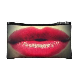 """Pequeño bolso cosmético de los """"labios rojos"""""""