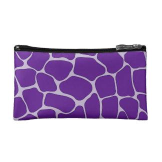 Pequeño bolso cosmético del estampado de girafa pú