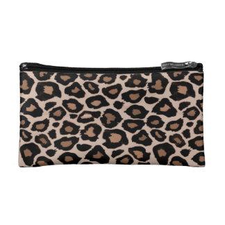 Pequeño bolso cosmético del estampado leopardo