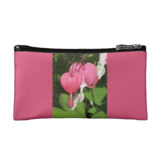 Pequeño bolso cosmético del rosa floral del