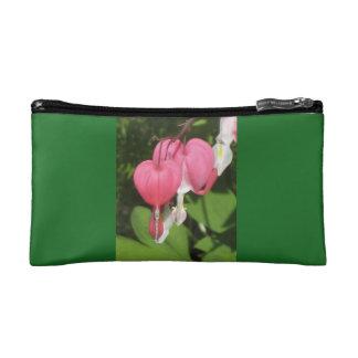 Pequeño bolso cosmético del verde floral del