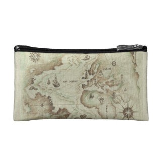 Pequeño bolso cosmético viejo de Mapamundi