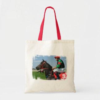 Pequeño bolso de la lona del jinete y del caballo bolsa tela barata