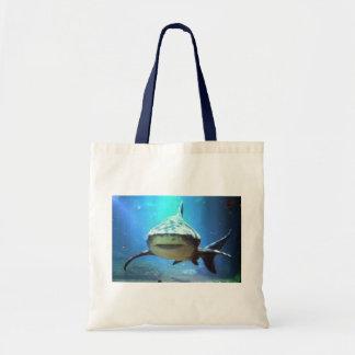 Pequeño bolso de la lona del tiburón bolsa de mano