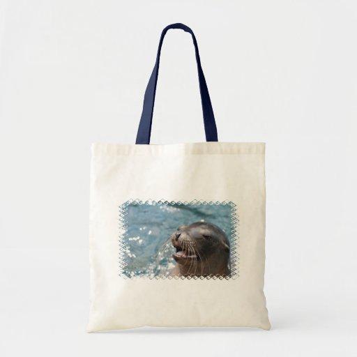 Pequeño bolso del león marino lindo bolsas