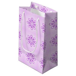 Pequeño bolso del regalo de los copos de nieve bolsa de regalo pequeña