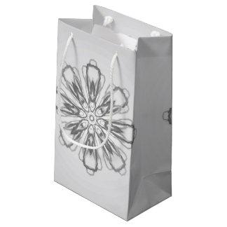 Pequeño bolso del regalo de los copos de nieve de bolsa de regalo pequeña