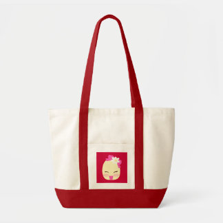 Pequeño bolso del rojo cereza de Flo Bolsa Tela Impulso