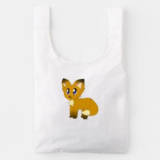 Pequeño bolso desaliñado lindo del Fox BAGGU Bolsa Reutilizable