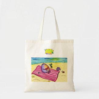 Pequeño bolso perdido de la playa de la uva bolsa