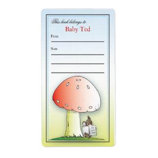 Pequeño Bookplate del ratón Etiqueta De Envío