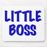 Pequeño Boss azul Alfombrillas De Ratón