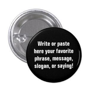 Pequeño botón (1 pulgada del ¼) pin redondo de 1 pulgada