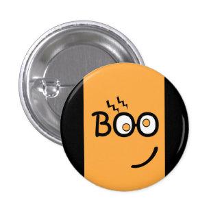 Pequeño botón de Halloween del abucheo Pin Redondo De 1 Pulgada
