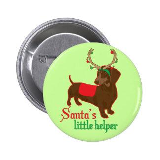 Pequeño botón del ayudante de Santa Pin Redondo De 2 Pulgadas