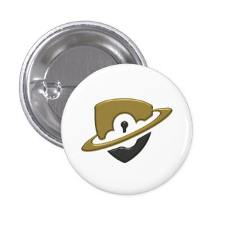 Pequeño botón del Blackwood - oro y negro Pin Redondo De 1 Pulgada