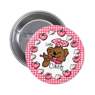 Pequeño botón del cocinero del oso (Rnd)
