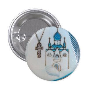 Pequeño botón del detalle ortodoxo del icono pin redondo de 1 pulgada
