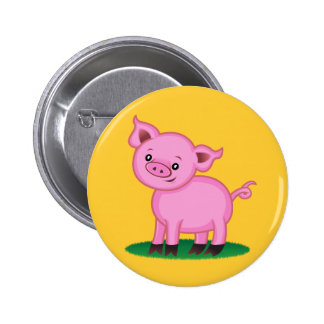 Pequeño botón lindo del cerdo pin